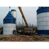 Детали малых 50 тонн цемента стали в бункере подачи для продажи