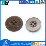 Custom gravado dois furos com botão de corozo ou da natureza