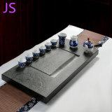 La pietra naturale del nero del granito intaglia il cassetto di tè