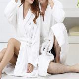 De in het groot Badjas van de Kraag van de Kimono van de Robes van het Bad van de Kleur van Vrouwen en van Mannen Witte