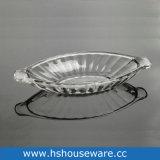 ガラスボートの整形皿
