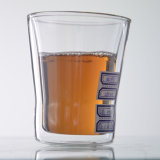 Teacups termoresistenti isolati doppi di doppio strato del Teacup di vetro