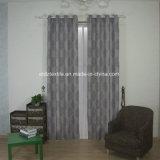 Estilo de lino 100% poliéster teñido de la pieza de tela de cortina