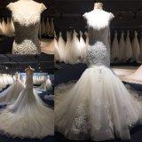 결정은 인어 신부 드레스 결혼 예복 Wgf001를 구슬로 장식한다