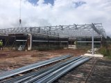 頑丈な金属の鉄骨構造の倉庫