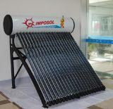 Aucune chaufferette d'eau chaude solaire de pression