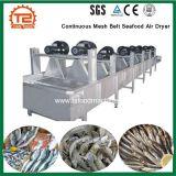 Alimentation industrielle continue de l'équipement de séchage Mesh Belt sécheur d'air de fruits de mer