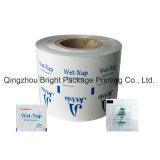 Imprimé en aluminium emballages en papier de lingettes de nettoyage de citron, l'emballage du papier aluminium pour les adultes lingettes humides, de nettoyage lingettes humides