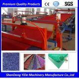 PVC 두 배 색깔에 의하여 살포되는 코일 지면과 차 발 양탄자 플라스틱 밀어남 기계
