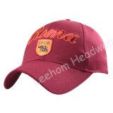 (LR14002) Emballage du chapeau lourd de chapeau de broderie de coton fait sur commande de sports