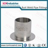 Soldadura topo a extremidade da manga de aço inoxidável para tubos