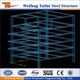 Structure métallique préfabriquée de projets de construction d'appartements d'étage multi léger préfabriqué de bâti
