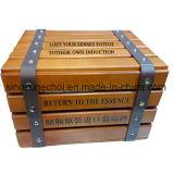 Книга формы сосны деревянный ящик для красного вина с тиснение логотипа