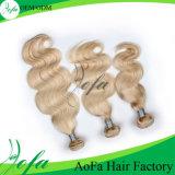 Perucas BRITÂNICAS do cabelo do Virgin humano louro agradável da cor para a forma