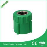 Gradi di fabbricazione PPR della Cina 90 hanno messo l'inserto a sedere d'ottone di plastica del gomito PPR un gomito da 90 gradi
