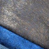 Le polyester de processus chaud d'estampage d'or imitent le tissu de cuir de chaussure de sac