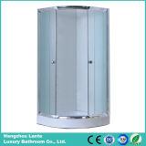 Sitio de ducha simple de la bandeja inferior con el marco de aluminio del cromo (LTS-823)