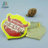 La fundición a presión de 25mm de aleación de zinc Soft enamel Pin como artesanía en metal
