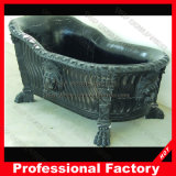 Mano Carved Red Marble Bathtub per Bathroom