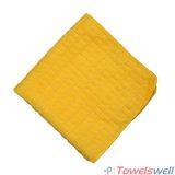 De gele Geruite Droogdoek van de Keuken Microfiber
