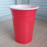 [16وز] [450مل] مستهلكة [بّ] يحتفل أحمر بلاستيكيّة منفردا فنجان
