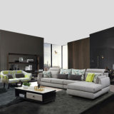 Zeitgenössischer eleganter Entwurfs-graues Hauptmöbel-Ecken-Gewebe-Sofa