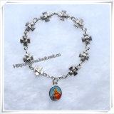 Anello del rosario della barretta dei branelli di vetro, rosario di plastica della barretta, barretta della gomma piuma (IO-CE073)