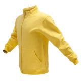 Mens Полн-Промелькивают фуфайку Hoodie цвета хлопка вскользь напольную желтую с подгонянным логосом