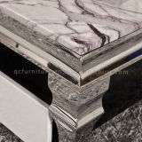 Mesa de café de mesa de chá de mármore de estilo europeu