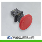 Xb2-Es 30mm 40mm 60mm Arrêt d'urgence aux champignons Plastique IP40 / IP65 Bouton électrique étanche à l'eau