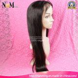 Cutícula sin procesar Remy de la peluca india del pelo de la densidad el 130% en todos peluca llena delantera del pelo recto del cordón