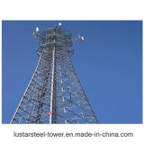 Una torretta di telecomunicazione autosufficiente tubolare d'acciaio galvanizzata dei 3 piedini