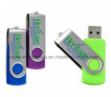 Venta caliente 4GB 8GB 16GB 32GB del eslabón giratorio USB Flash Drive con el logotipo personalizado (307)
