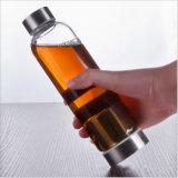 botella de consumición de cristal portable de Infuser del té de la botella de agua 550ml (DC-QDG1-550)