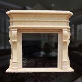 Exquisite lareira de mármore com Design Hand-Carved fino e de excelente qualidade