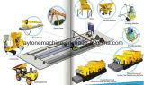Laje de cimento pré-fabricada que faz a máquina