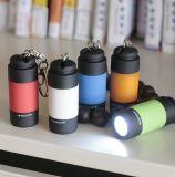 Lanterna LED recarregável USB com LED Mini chaveiro