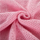 Супер мягкое одеяло Knit хлопка Младенц-Внимательности (DPFB8011)