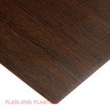 El vacío que forman la hoja de madera PVC PVC / hoja de grano de madera