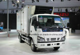 4X2 Isuzu Van refrigerado 600p 6 toneladas de carro del congelador