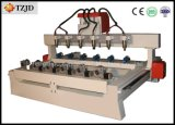 Multi Hoofd 3D CNC Router 4 CNC van de As Machine