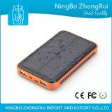 8000mAh 10000mAh Waterproof Portable Solar Power Bank pour téléphone portable fabriqué en Chine