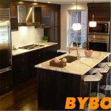 古典的なカスタマイズされた現代材木によって薄板にされる終わりの食器棚(BY-L-126)