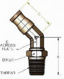 Inserire d'ottone del PUNTINO i montaggi con la certificazione del PUNTINO (DOT-LS45-3/8-N02)