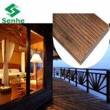 Eco carbonizó el suelo de bambú al aire libre para los hoteles