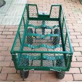 Plage de plein air 4 roues de chariot utilitaire Jardin de pliage Panier