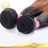 Aaaaaaaaの加工されていないブラジルの毛のバージンの人間のWeavonの毛のよこ糸