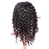 I capelli della natura di modo impacchettano la parrucca profonda serica della parte anteriore del merletto delle donne dell'onda del merletto brasiliano
