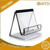 Support acrylique clair de menu de L-Forme, étalage acrylique simple de menu