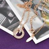 형식 보석의 최고 판매 Cirlce 디자인 공간 수정같은 목걸이